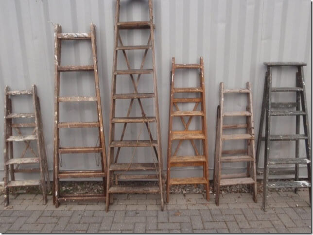 Arrange two ladders