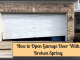 How to Open Garage Door With Broken Spring