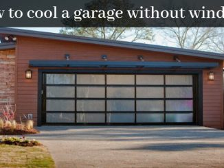 How to cool a garage without windows