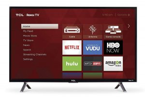TCL 32-Inch Smart LED TV for Garage