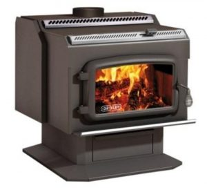 Drolet HT2000 High-Efficiency Wood Stove for Garage