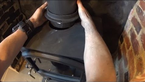 connect stove pipe