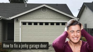 How to fix a jerky garage door
