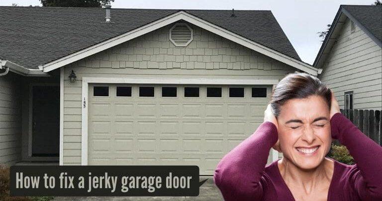 How to fix a jerky garage door