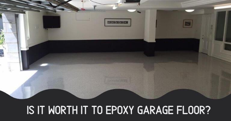 Is it worth it to epoxy garage floor
