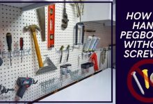 How to Hang Pegboard Without Screws_